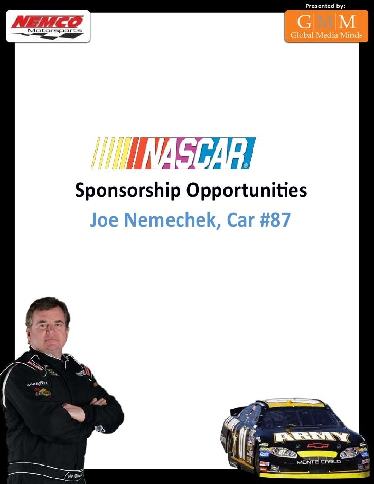 Sponsorship Opportunities   Joe Nemechek, Car #87