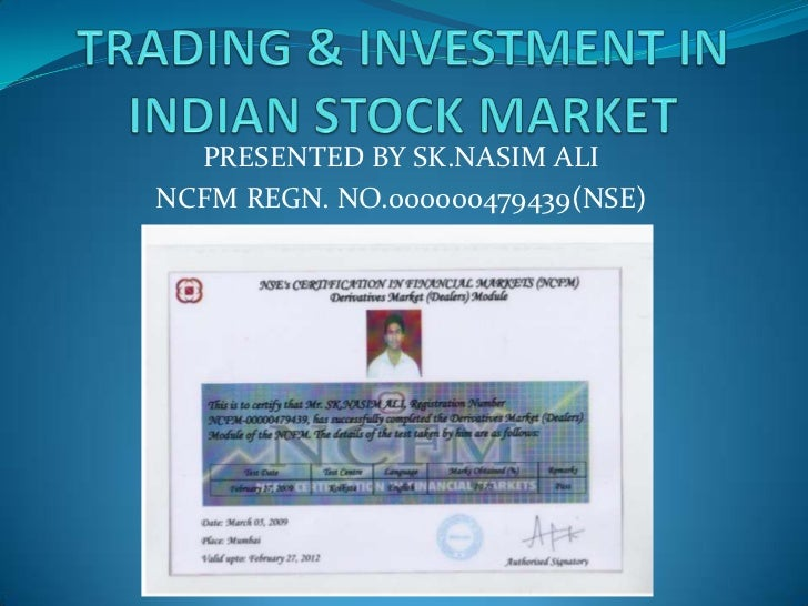 Nasim,trading & investment in indian stock market