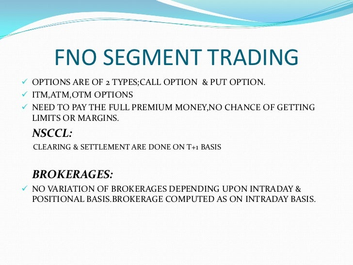 Options trading examples india