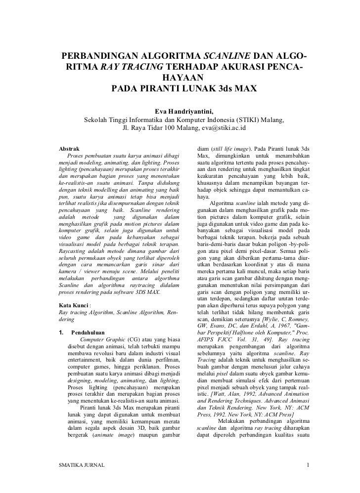 Naskah algorithma ray tracing & sceneline