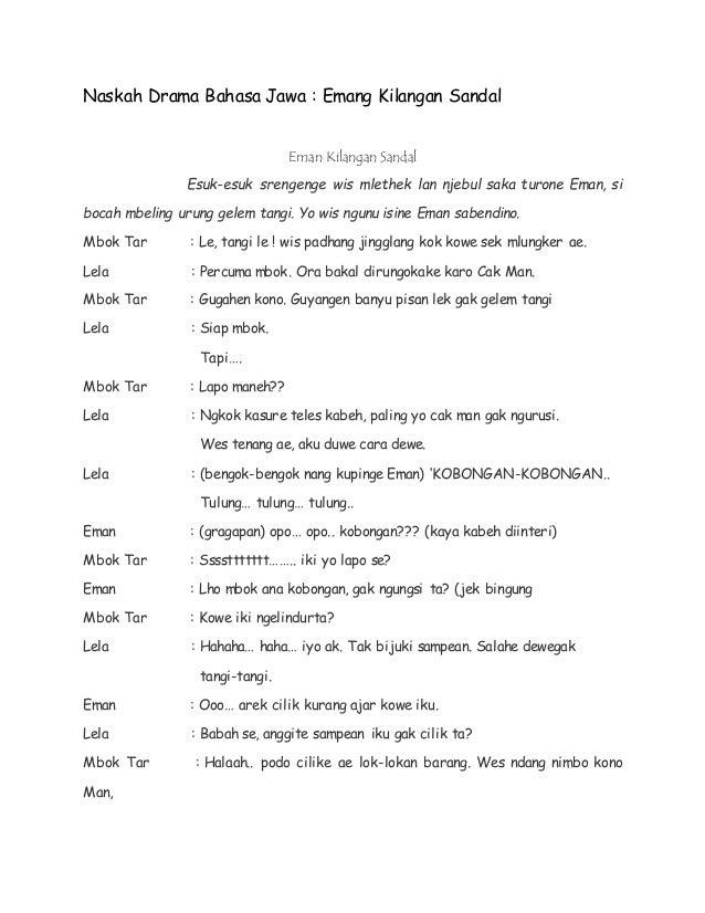 Contoh Naskah Drama Keong Mas Dalam Bahasa Jawa Close Range