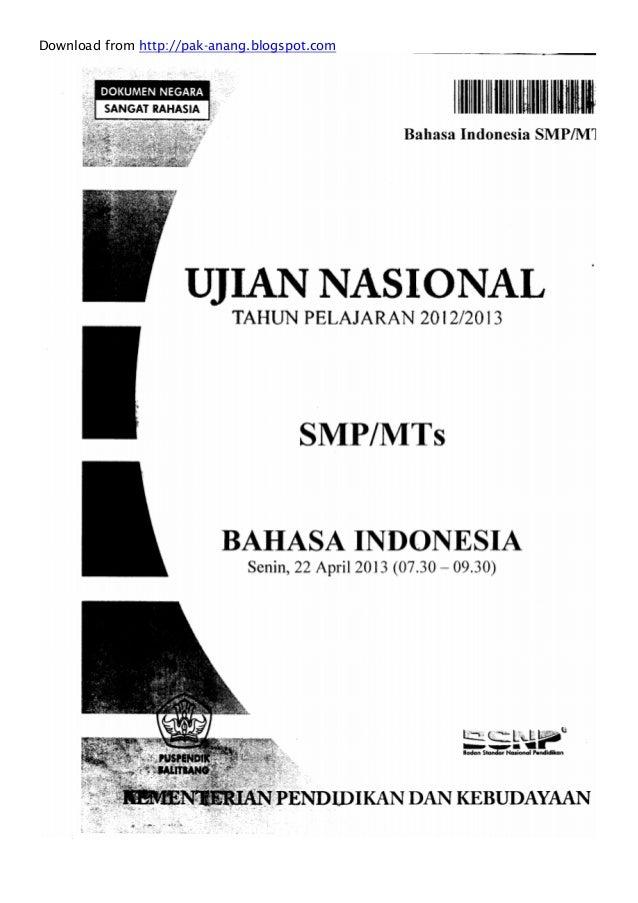 un smp un smp tahun 2013 badan standardisasi nasional pendidikan