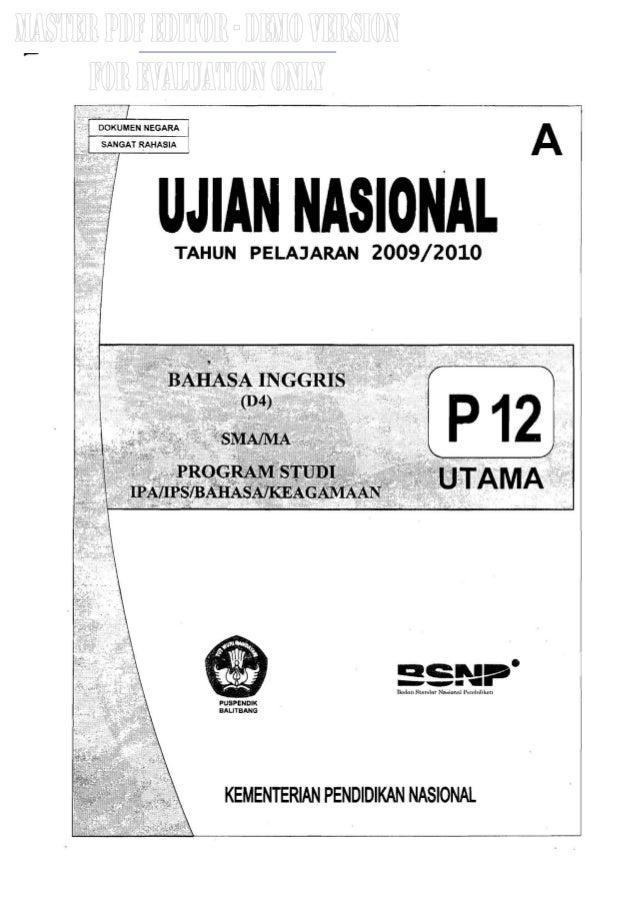 Naskah Soal Un Bahasa Inggris Sma 2010 Paket 12
