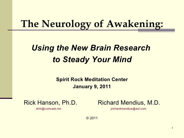 The Neurology of Awakening - Rick Hanson, PhD