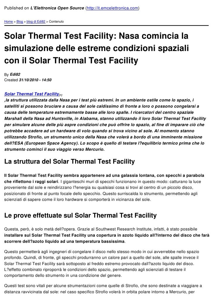 Published on LElettronica Open Source (http://it.emcelettronica.com)Home > Blog > blog di Edi82 > ContenutoSolar Thermal T...