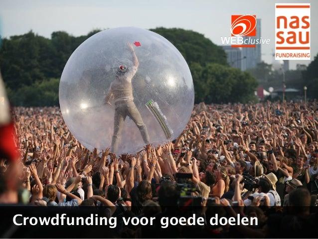Crowdfunding voor goede doelen