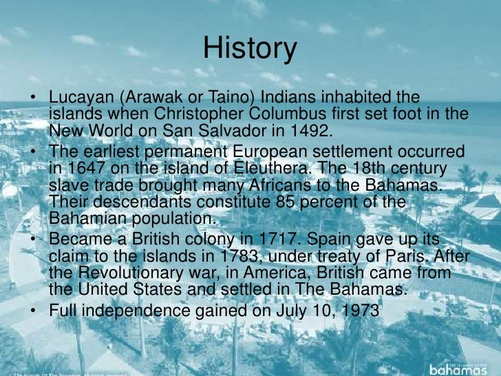 History of The Bahamas Out Islands