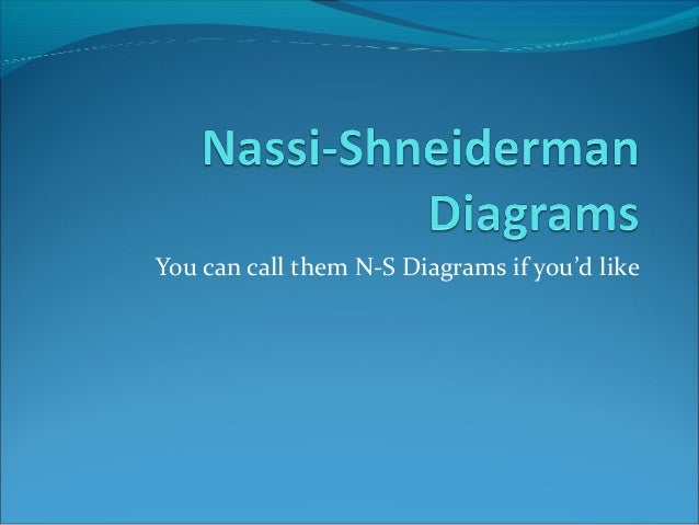 You can call them N-S Diagrams if you'd like