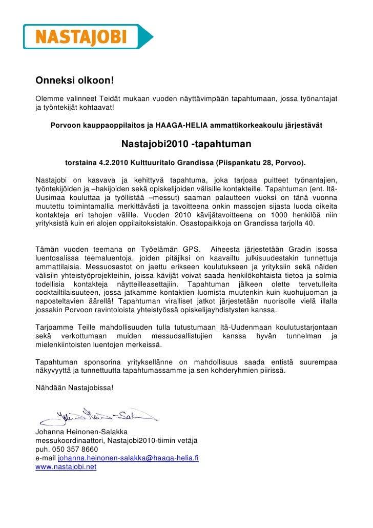 Nastajobi2010 sponssipaketit