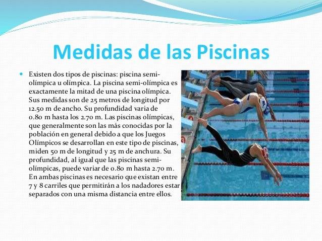 Natacion diazescobarwendy for Medidas de una piscina olimpica