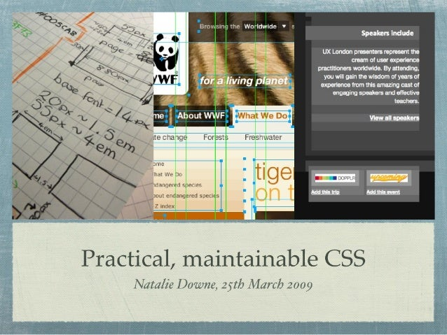 Practical Maintainable CSS (short version)