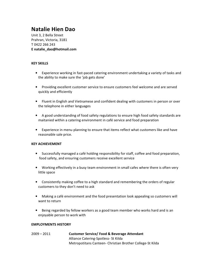 Food Service Manager Resume Sample,Food Service Resume Examples ...