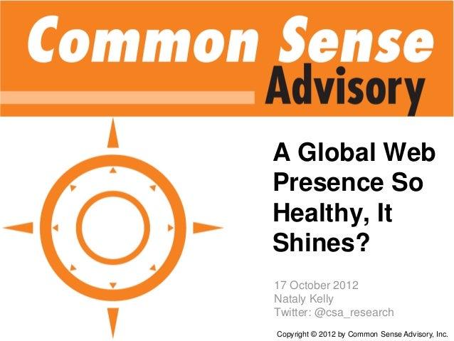 A Global Web Presence so Healthy... It Shines?