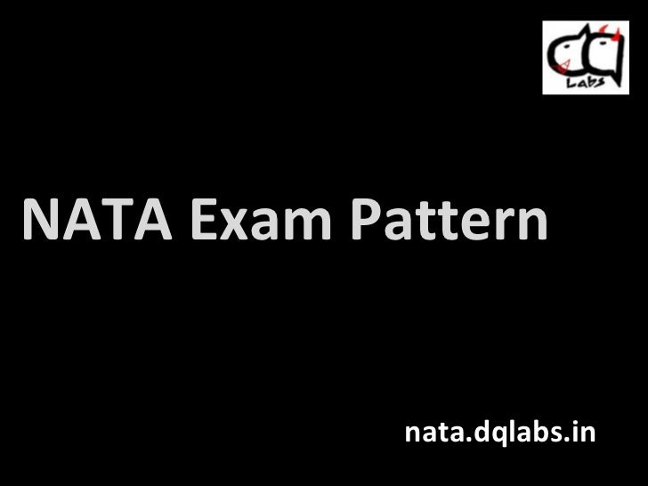 NATA Exam Pattern nata.dqlabs.in