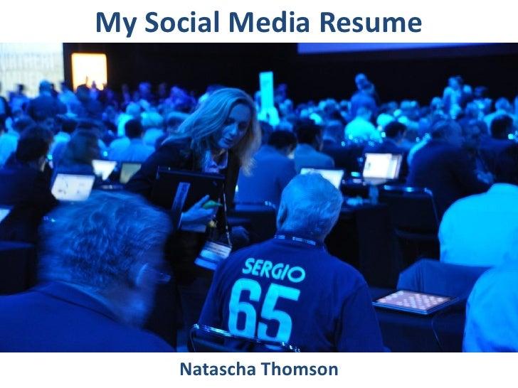 Natascha Thomson Social Media Resume