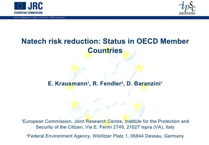 Natech risk reduction: Status in OECD Member Countries