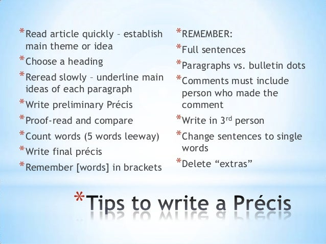 Best Precis Writing Services In India Stonewall Services