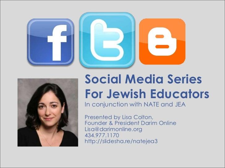 Blogging to Support Jewish Journeys