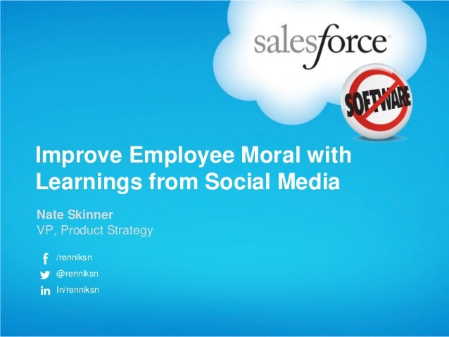 Using Social Media to Improve Employee Morale