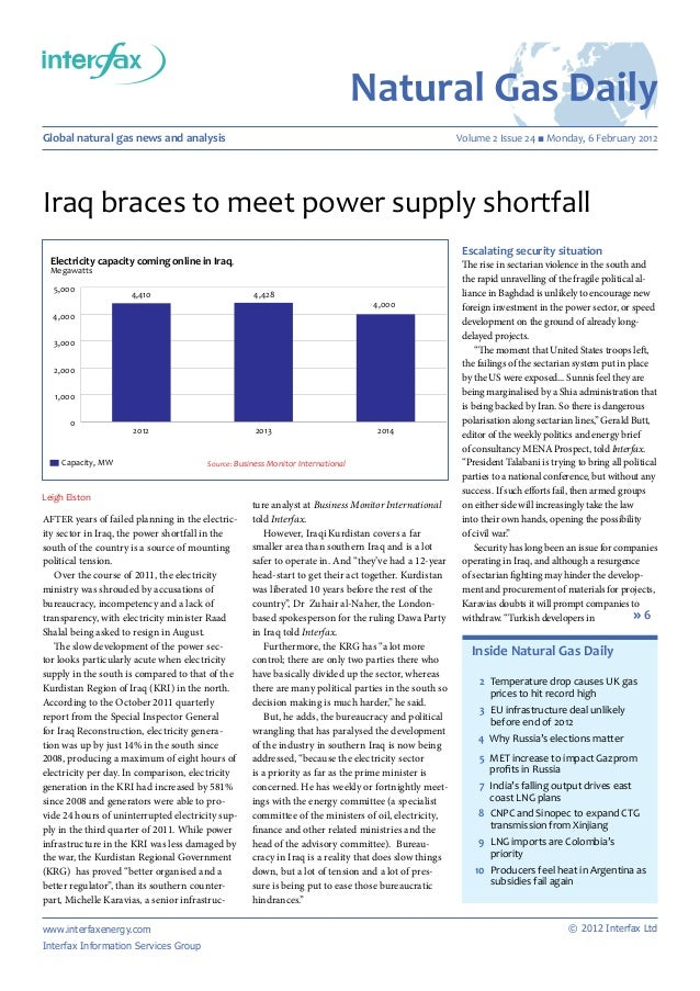 Leigh ElstonAfter years of failed planning in the electric-ity sector in Iraq, the power shortfall in thesouth of the coun...