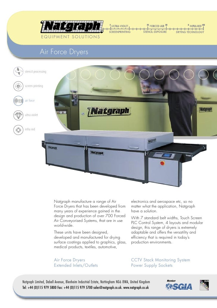Natgraph Air Force Dryers & Options