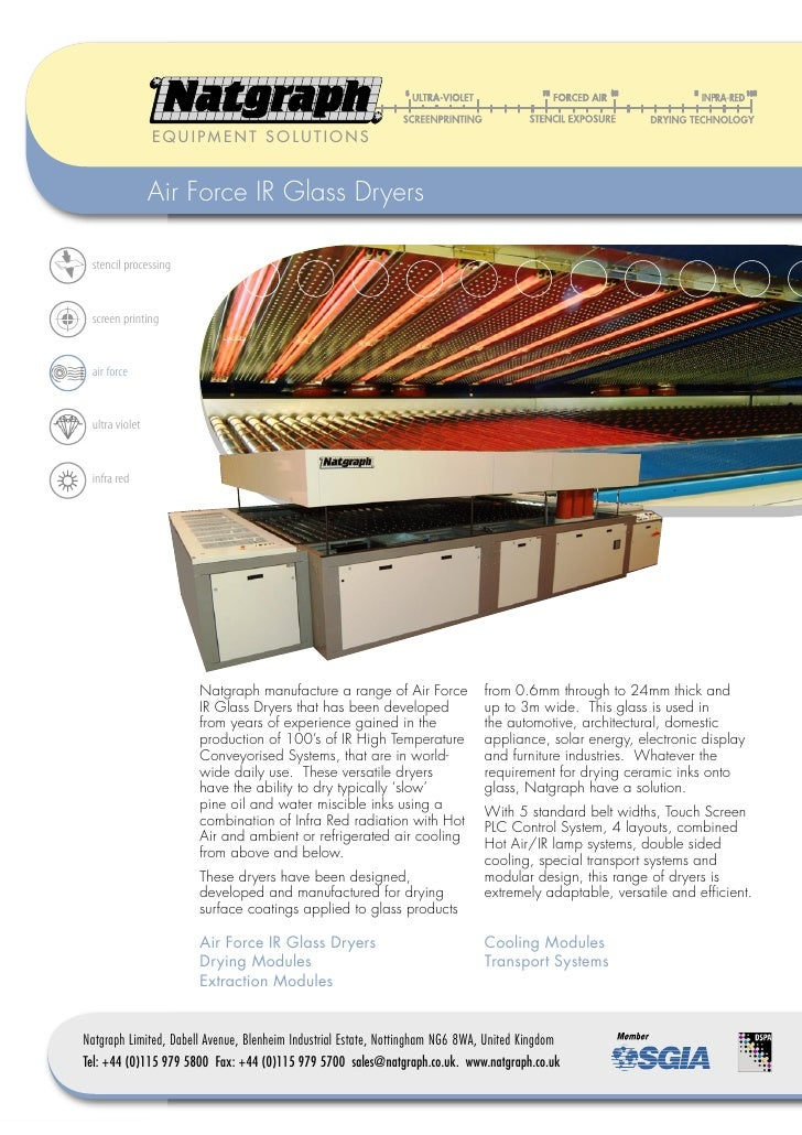 EQUIPMENT SOLUTIONS                   Air Force IR Glass Dryers   stencil processing    screen printing    air force    ul...