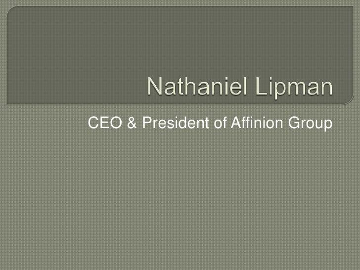 Nathaniel Lipman at Affinion