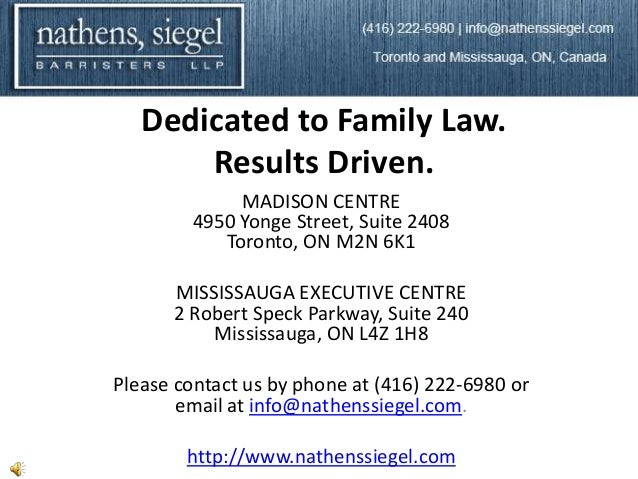 Dedicated to Family Law.       Results Driven.             MADISON CENTRE        4950 Yonge Street, Suite 2408           T...