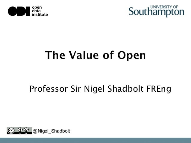 The Value of Open