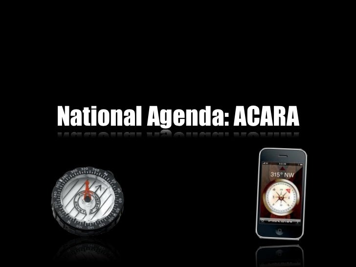 National Agenda: ACARA