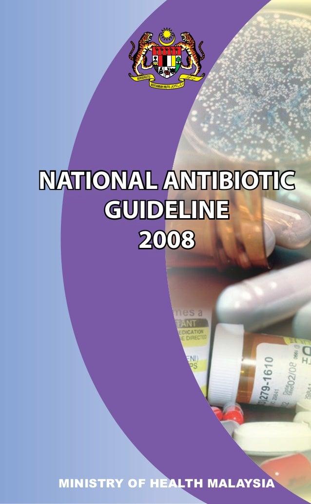 National antibiotic guideline 2008