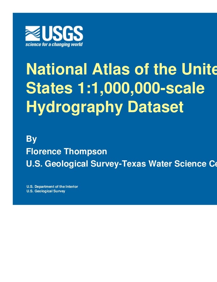National atlas of the us   1 to 1,000,000 scale hydrography dataset