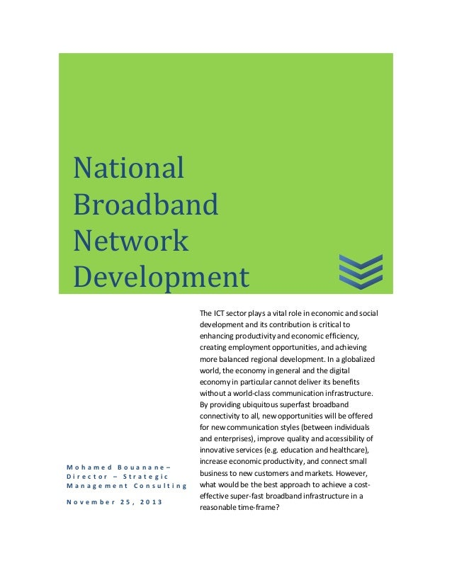 National broadband network development: for an effective public-private partnership