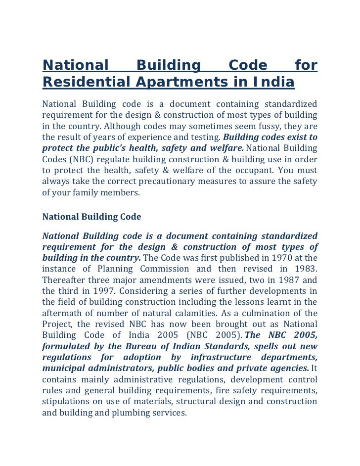 Building Construction Codes India