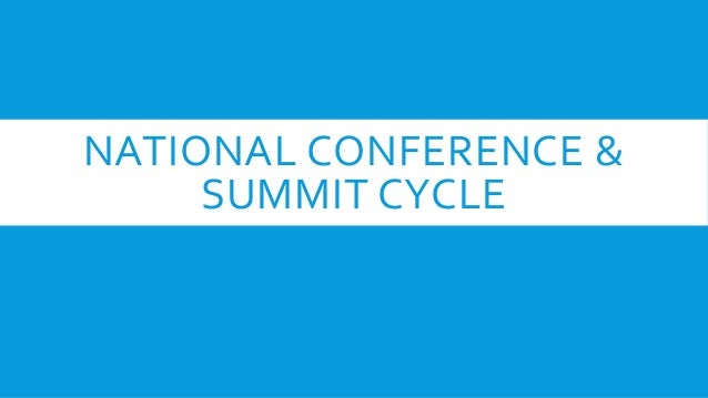 NATIONAL CONFERENCE & SUMMIT CYCLE