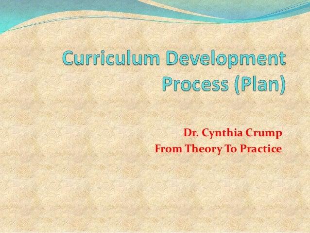 National Curriculum Development Process (Plan)