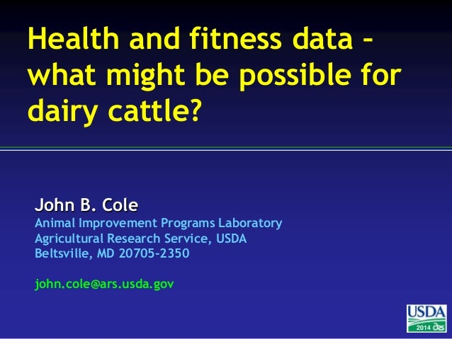 Health and fitness data – what might be possible for dairy cattle?
