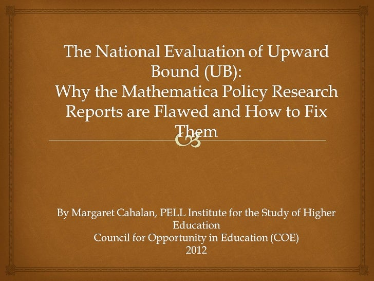 National evaluationofupwardbound