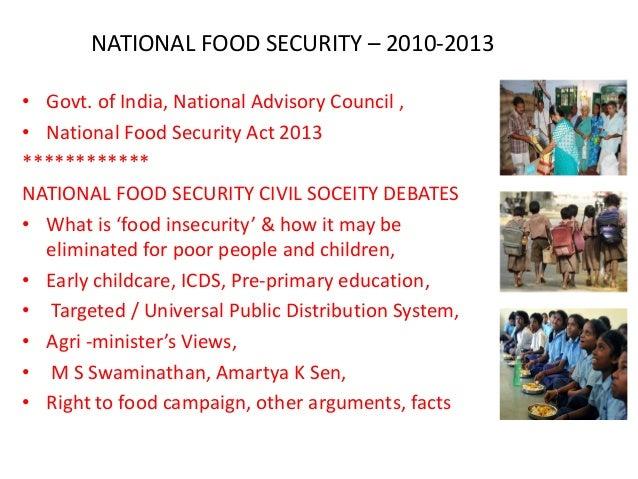 National food security bharath