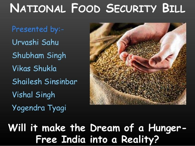 National food security bill 2013