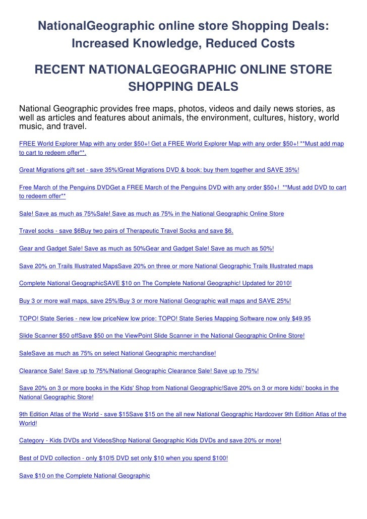 NationalGeographic-online-store-Shopping-Deals