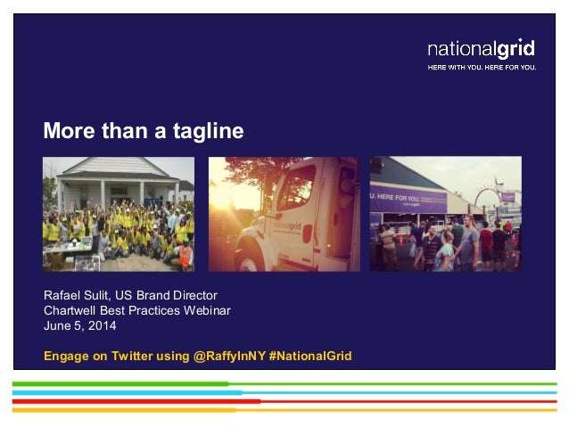 Rafael Sulit, US Brand Director Chartwell Best Practices Webinar June 5, 2014 Engage on Twitter using @RaffyInNY #National...