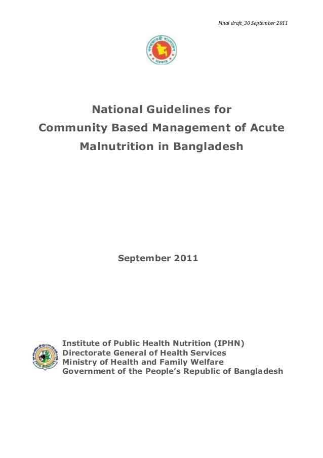 National guideline cmam bangladesh