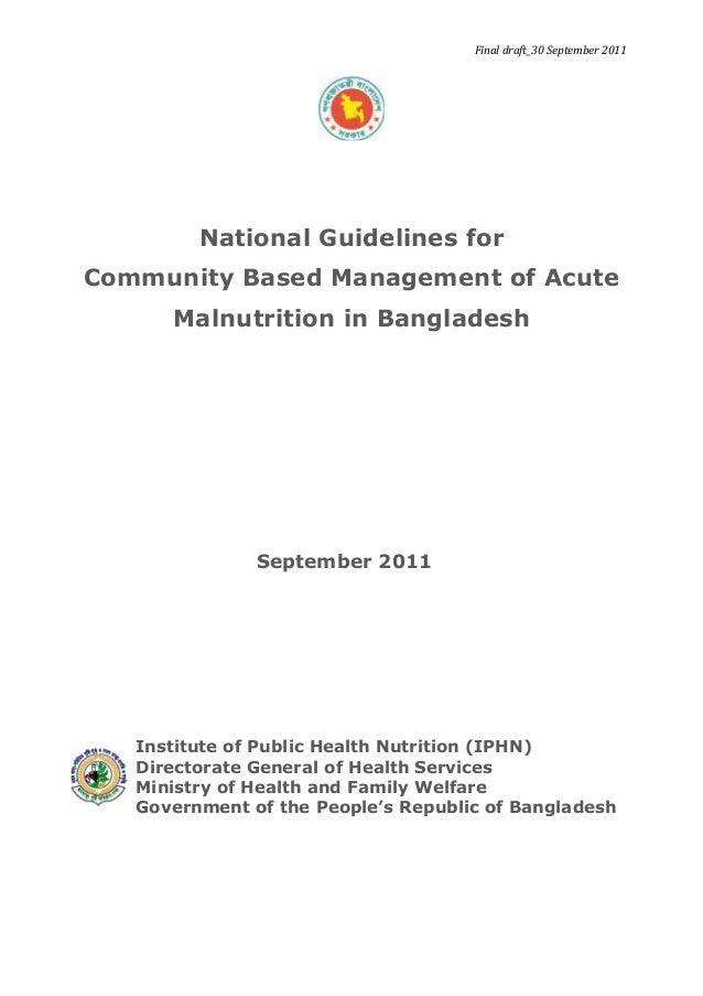 National guideline cmam bangladesh
