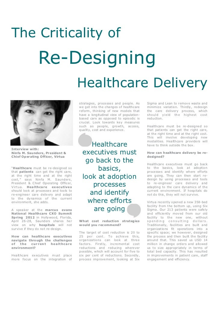 The Criticality of Re-Designing Healthcare Delivery - Ninfa M. Saunders, Virtua
