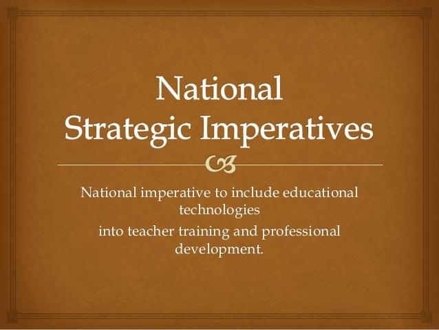 National imperatives