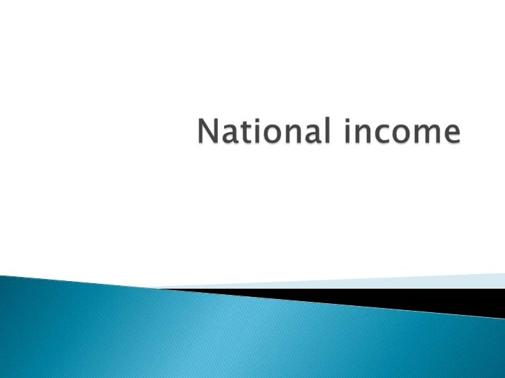 National income. final