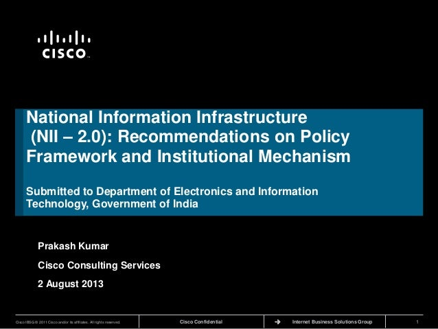 National information infrastrcuture_Rrecommendations to Deptt of Electronics & IT Govt of India on policy framework and institutional mechanism