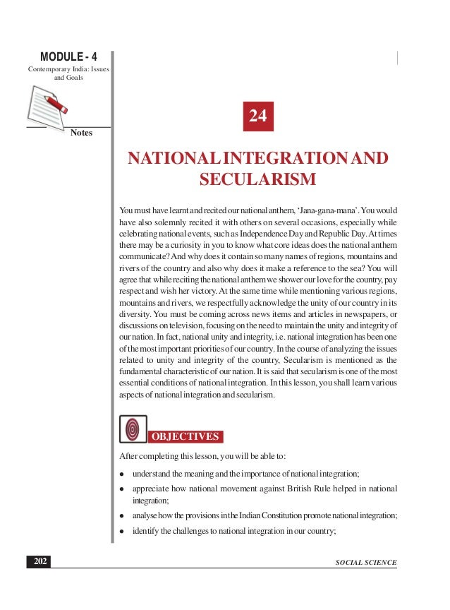role of hindi in national integration After 1947, indian leaders were faced with the stupendous task of national integration and economic development with lot of regionalism this made regional leaders.