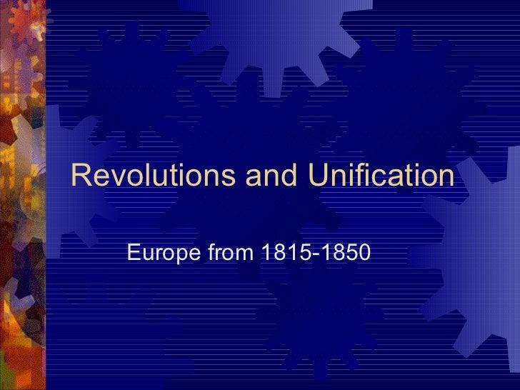 Nationalism & Revolutions 1800s